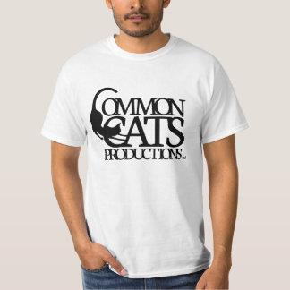 Common Cats Full Logo Black T-Shirt