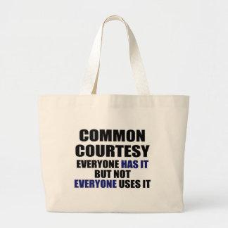 Common Courtesy Canvas Bag