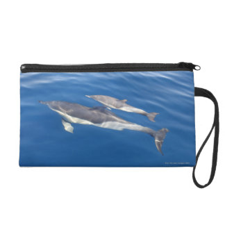 Common Dolphin in the strait Wristlet Purses
