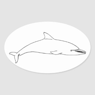 Common Dolphin (long-beaked) Oval Stickers