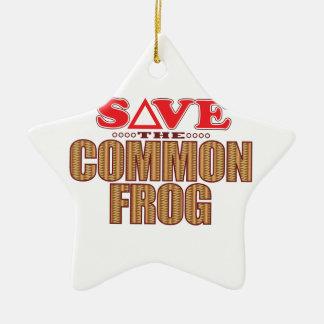 Common Frog Save Christmas Ornament