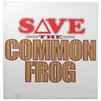 Common Frog Save Napkin
