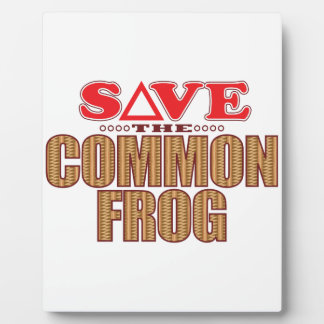 Common Frog Save Plaque