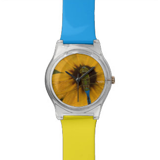 Common Green Darner male on Black-eyed Susan Wrist Watch