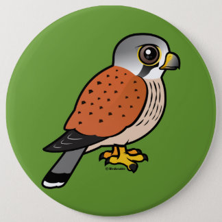 Common Kestrel 6 Cm Round Badge