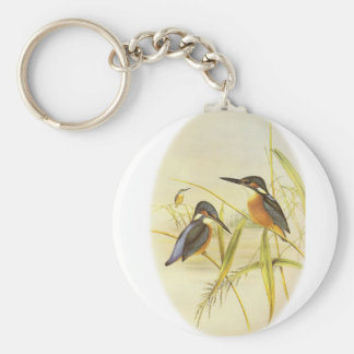 Common Kingfisher Basic Round Button Key Ring