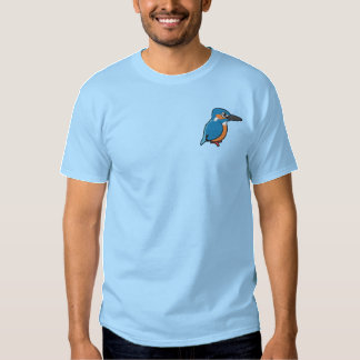 Common Kingfisher Embroidery Embroidered T-Shirt