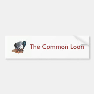 Common Loon Carving Car Bumper Sticker
