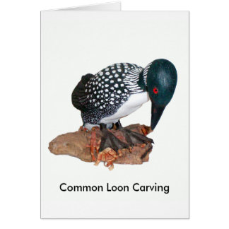 Common Loon Carving Card