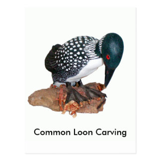 Common Loon Carving Postcards