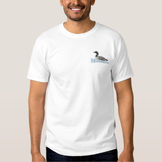 Common Loon Embroidered T-Shirt