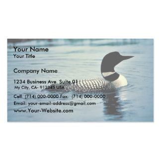 Common Loon on Water Business Card Template