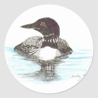 Common Loon Round Sticker