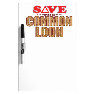 Common Loon Save Dry Erase Whiteboards