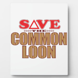 Common Loon Save Plaque