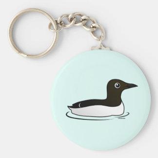 Common Murre swimming Key Chain