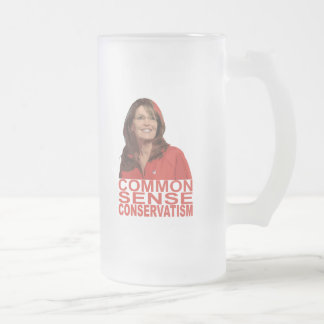 Common Sense Conservatism Frosted Glass Mug