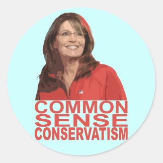 Common Sense Conservatism Round Sticker