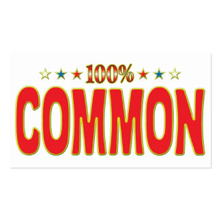 Common Star Tag Pack Of Standard Business Cards