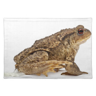 Common toad or European toad (Bufo bufo) pissing Placemat