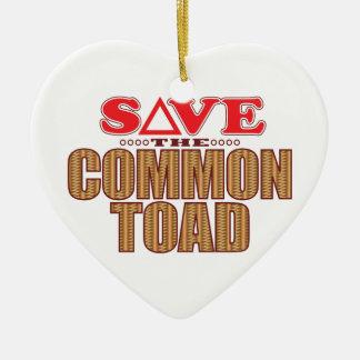 Common Toad Save Ceramic Heart Decoration