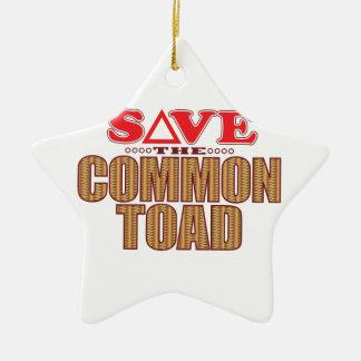 Common Toad Save Ceramic Star Decoration