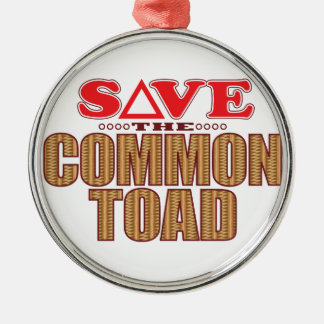 Common Toad Save Christmas Ornament