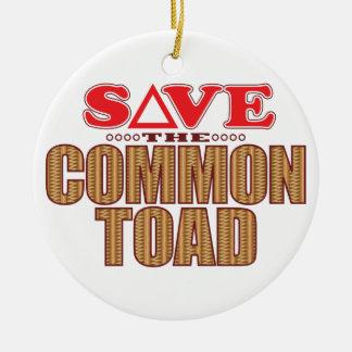 Common Toad Save Round Ceramic Decoration