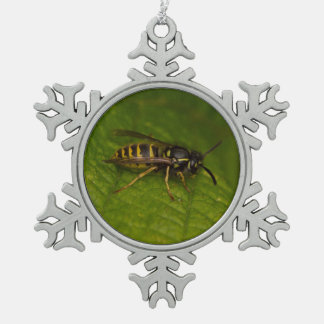 Common Wasp Pewter Snowflake Decoration