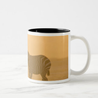 Common Zebra, Equus burchelli, and Elephant, Mug