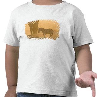 Common Zebra, Equus burchelli, and Elephant, T Shirts