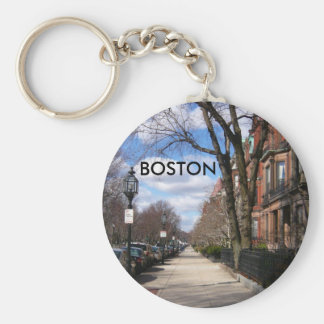 Commonwealth Avenue Neighborhood Basic Round Button Key Ring