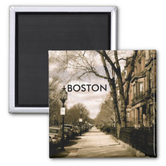 Commonwealth Avenue Neighborhood (sepia) Magnet