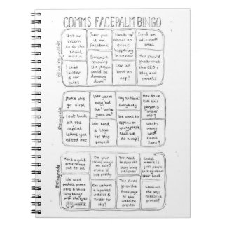 Comms Facepalm Bingo Notepad Notebook