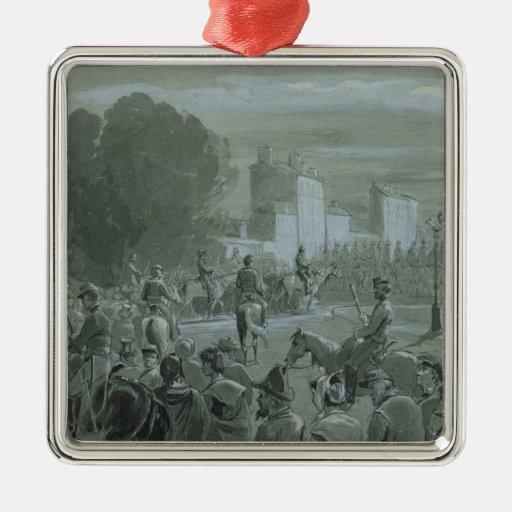 Communard Prisoners Escorted to Versailles, 1871 Christmas Tree Ornaments