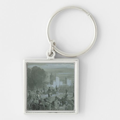 Communard Prisoners Escorted to Versailles, 1871 Key Chains