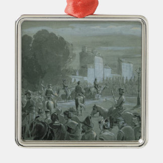 Communard Prisoners Escorted to Versailles, 1871 Silver-Colored Square Decoration