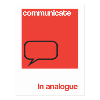 Communicate in analogue postcard