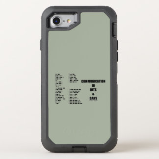 Communication In Dits And Dahs Morse Code Humor OtterBox Defender iPhone 8/7 Case