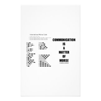 Communication Is A Matter Of Morse Stationery Paper