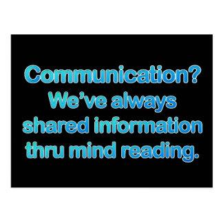 Communication Issues Postcard