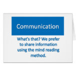 Communication Note Card