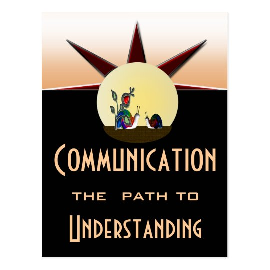 Communication path to understanding postcard