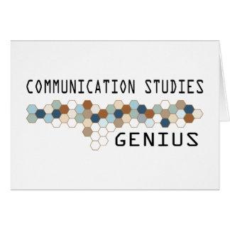 Communication Studies Genius Greeting Card