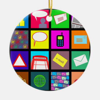 Communication Tile Wallpaper Christmas Ornament