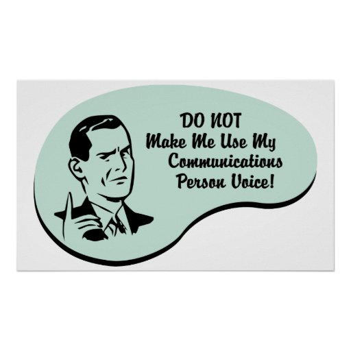 Communications Person Voice Poster