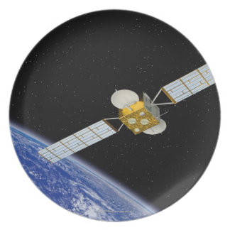 Communications Satellite Party Plates