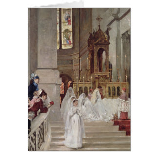 Communion at the Church of the Trinity, 1877 Greeting Card