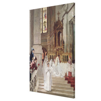 Communion at the Church of the Trinity, 1877 Stretched Canvas Print