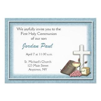 Communion Blue Invitation